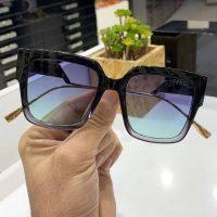 عینک آفتابی UV 400 فریم مربع مشکی مدل فنتی