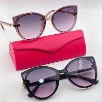 عینک آفتابی UV 400 فریم قهوه ای مدل پروانه