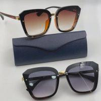 عینک آفتابی UV 400 فریم مشکی مدل مربعی