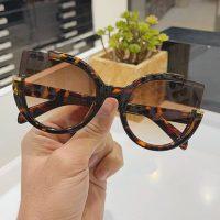 عینک آفتابی UV 400 فریم سبک مدل گربه ای