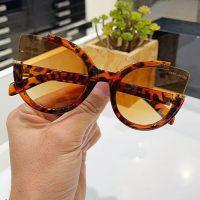 عینک آفتابی بلوکات فریم پلنگی مدل گربه ای