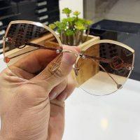 عینک آفتابی بلوکات فریم سبک مشکی مدل گربه ای