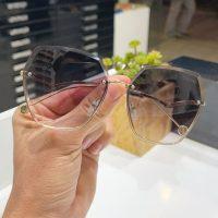 عینک آفتابی بلوکات بدون فریم شش ضلعی مدل چنل