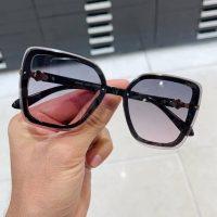 عینک آفتابی بلوکات پنج ضلعی فریم مشکی مدل چنل