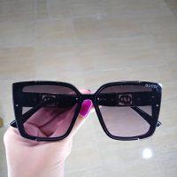 عینک آفتابی UV 400 فریم قهوه ای مدل گوچی