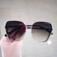 عینک آفتابی بلوکات فریم سبک بی رنگ مدل گربه ای