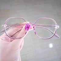 عینک بلوکات بیضی فریم بنفش