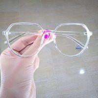 عینک بلوکات بیضی فریم شیشه ای براق