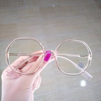 عینک بلوکات شش ضلعی فریم نسکافه ای روشن